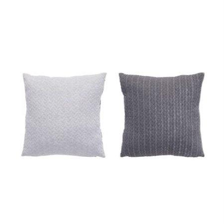 Hübsch Sofapude i grå nuancer med mønster