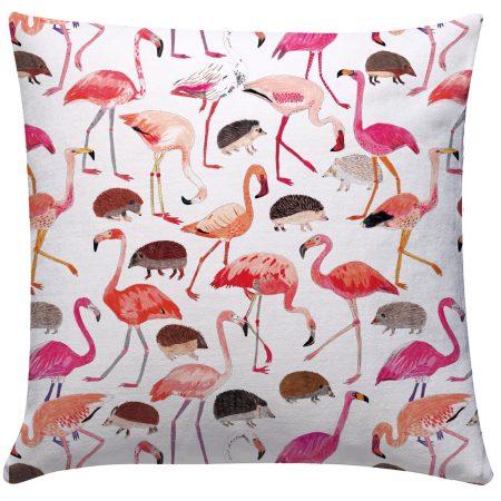 JAMES BARKER - Flamingo & Hedgehog Cushion