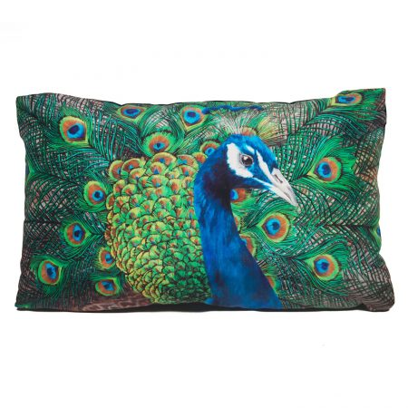Katie & the Wolf - Peacock Cushion - Small