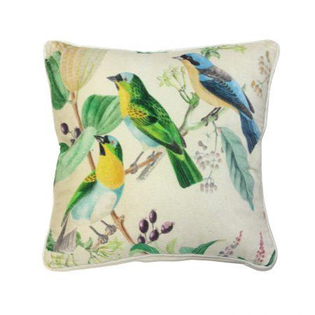 MM LINEN - Aviary Cushion