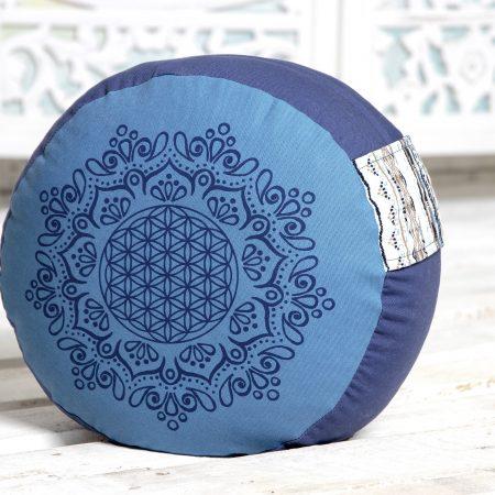 Meditationspude, 17 cm - Azur/Ocean blå
