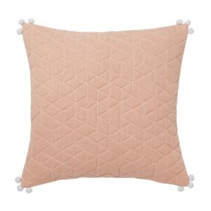 Paddy Quilted geometric Peach Cushion