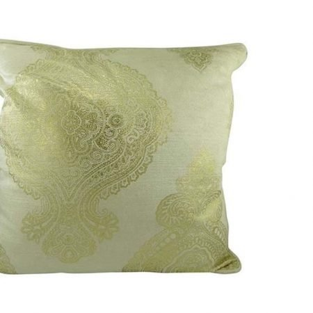 Paisley sofapude i guld størrelse 45x45 cm