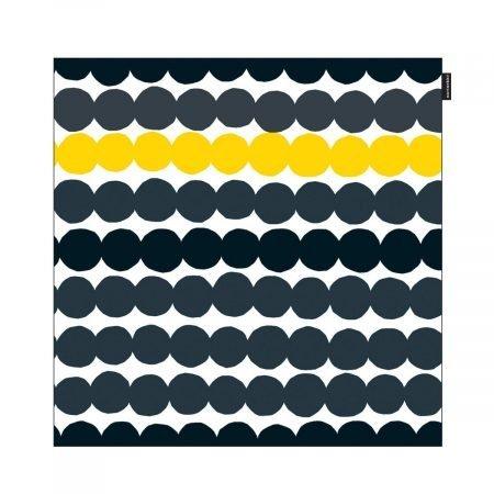 Räsymatto pudebetræk sort-grå-gul