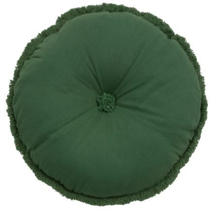 Wallace Cotton - Burre Round Cushion Green
