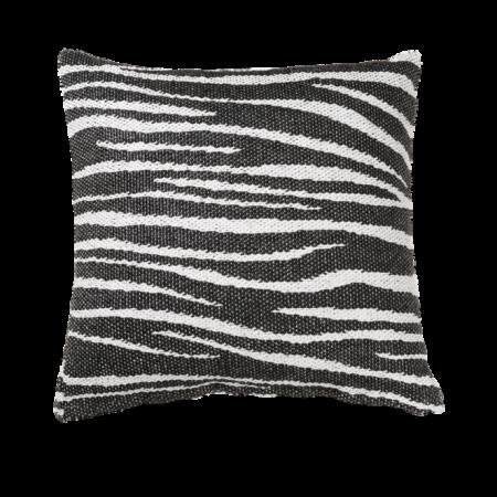 Zebra Pude, 50x50cm, sort