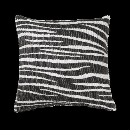 Zebra Pude, 70x70cm, sort